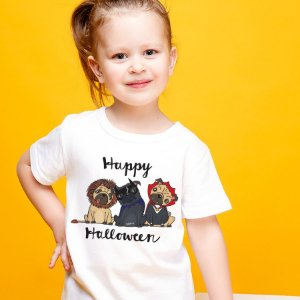 Camiseta Infantil Cachorro Happy Halloween