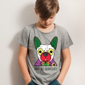 Camiseta Infantil Cachorro Coringa - Why So Serious?