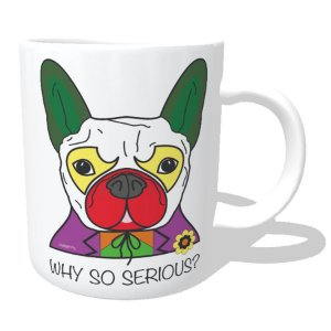 Caneca Cachorro Coringa - Why So Serious?