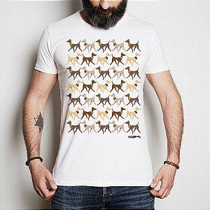 Camiseta Galgo Italiano Caminhando