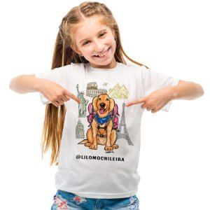 Camiseta Infantil Lilo Mochileira