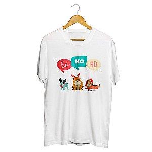Camiseta Cachorro Natal Ho Ho Ho