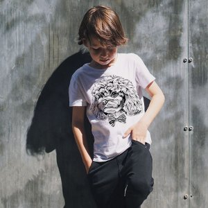Camiseta Infantil Poodle de Gravatinha Borboleta