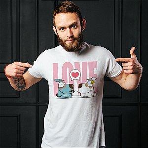 Camiseta Cachorro Casal Love