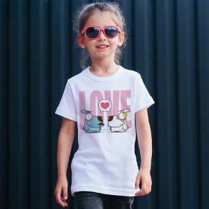 Camiseta Infantil Cachorro Casal Love