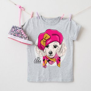 Camiseta Infantil Poodle Fêmea I Like To Dress Up