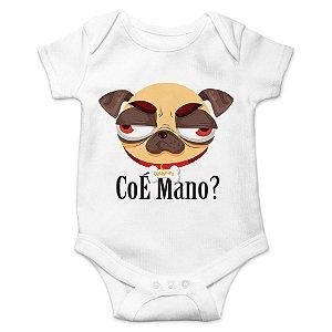 Body Bebê Pug CoÉ Mano