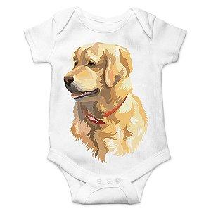 Body Bebê Golden Retriever - Branco