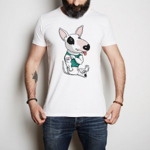 Camiseta Bull Terrier I Love Dad