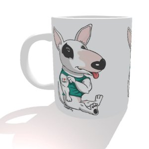 Caneca Bull Terrier I Love Mom