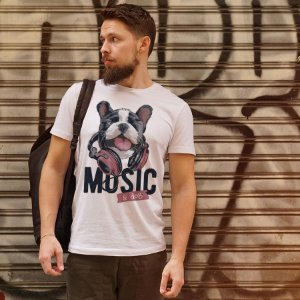 Camiseta Music e Dog