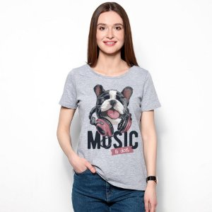 Camiseta Baby Look Music e Dog