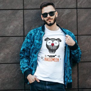 Camiseta Happy Halloween Cartoon Doggy