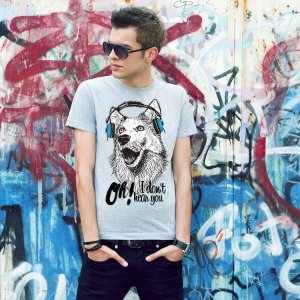 Camiseta Cachorro Oh! I Don't Hear You
