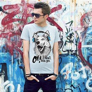 Camiseta Cachorro Oh! I Don't Hear You