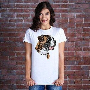 Camiseta Baby Look Boxer Pintura Digital