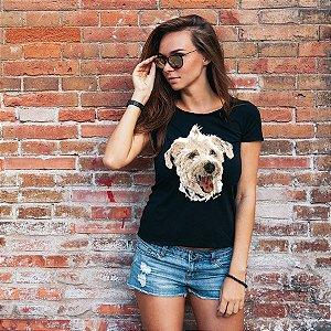 Camiseta Baby Look Vira-Lata Pintura Digital