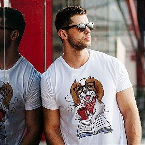 Camiseta Cachorro, Café e Talvez 1 Livro - Books and Dogs