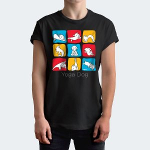 Camiseta Yoga Dog