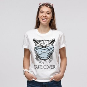 Camiseta Baby Look Cachorro Take Cover