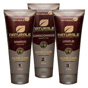 Naturale Kit de manutenção home care shampoo + Condicionador + Leave-in