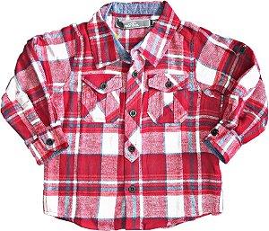 Camisa Marisol Xadrez flanelada Vermelha