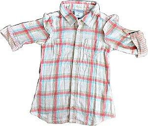 Camisa Infantil Feminina Marisol Xadrez