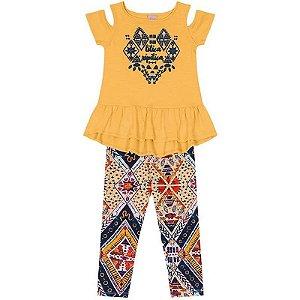 6d649f930d Conjunto Lilica Ripilica Baby Branco amarelo