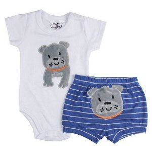 Conjunto Body C/ Short Iaz Baby Bull Dog 2064