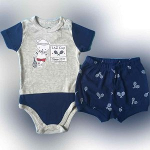 Conjunto Body C/ Short Iaz Baby Jogador De Tenis 2082