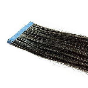 Mega Hair Fita Adesiva Castanho Com Mechas 70cm  2 Telas