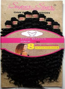 Cabelo Fibra Orgânico Cacheado Mega Hair Brazuca 60cm cor 4