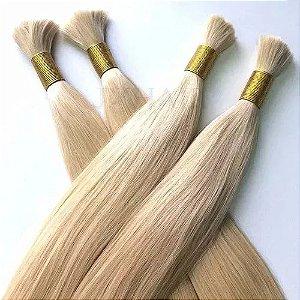 Cabelo Humano Loiro Cor 10 Mega Hair 70cm com 100 Gr