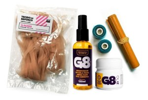 Cola Gel Megahair Fita Adesiva 50gr + Kit + Removedor G8