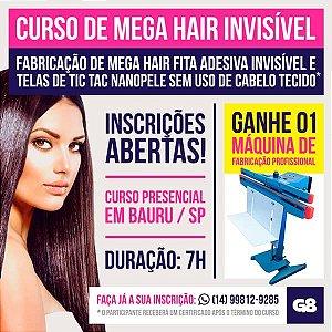 Curso Presencial Fabricação de Mega Hair Invisivel Completo