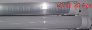 Kit c/ 25 Lâmpadas LED Tubular T8 18W Econômica - 120cm