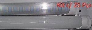 Kit c/ 25 Lâmpadas LED Tubular T8 18W Gold - 120cm