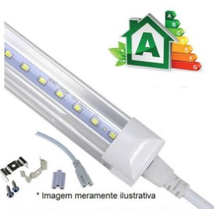 Lâmpada LED Tubular Integrada T8 24W - 120cm Bivolt