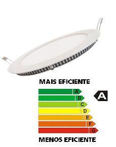 Luminária Slim REDONDA LED-B 12W 110/220V