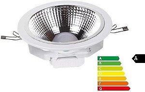 Luminária Cob Led 10w Plafon com Difusor Embutido para Teto