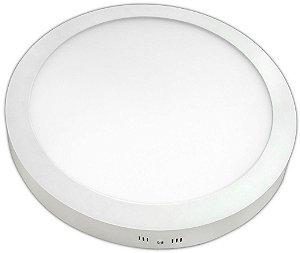 Luminária Sobrepor Plafon Led 15w com Difusor Teto - Branco Quente (3000k)