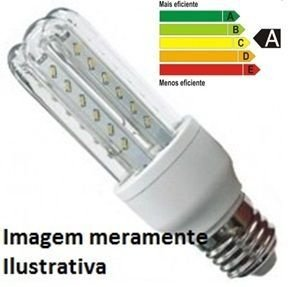 Lâmpada Led Corn Glass 12W 60 Leds 2835 110/220V