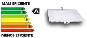 Luminária de Embutir Quadrada LED 6W 110/270V