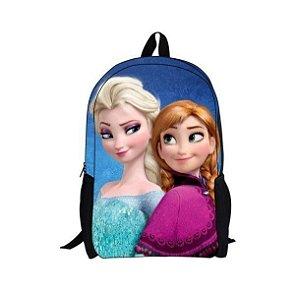 Mochila Elsa & Anna, estampa em 3D - Pronta entrega!