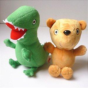 Kit com 2 peças: Teddy & Dinossaurinho - Pronta entrega!