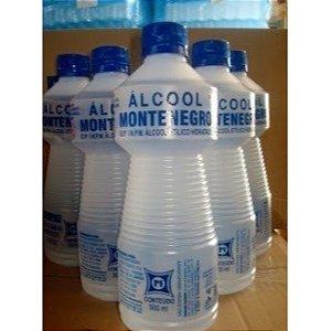 ALCOOL MONTENEGRO LIQ. HIDRATADO 92,8 INPM 500 ML