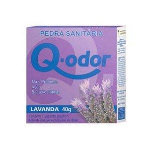 PEDRA SANITARIA Q-ODOR LAVANDA 40 GRAMAS