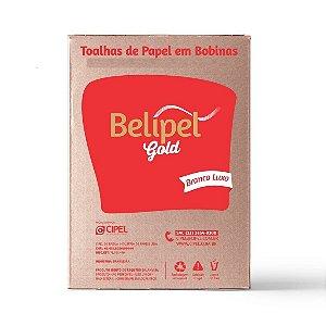 TOALHA PAPEL BELIPEL GOLD BRANCA I - LUXO  - 20,5 x 20 CM -  COM 1000 FOLHAS