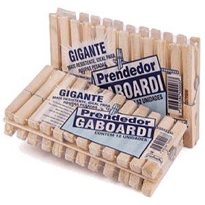 PRENDEDOR GIGANTE GABOARDI MADEIRA COM 12 UNIDADES