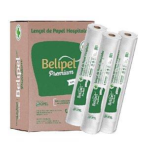 LENCOL HOSPITALAR BELIPEL PREMIUM 100% CELULOSE SEM PICOTE - 50 CM X 50 METROS